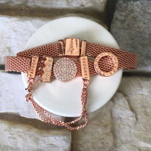Pandora rose gold tone reflexions bracelet